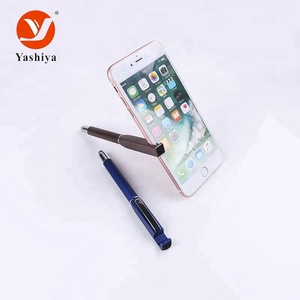 Hot sell Cell phone holder screen stylus pens with custom logo promotional ball pen