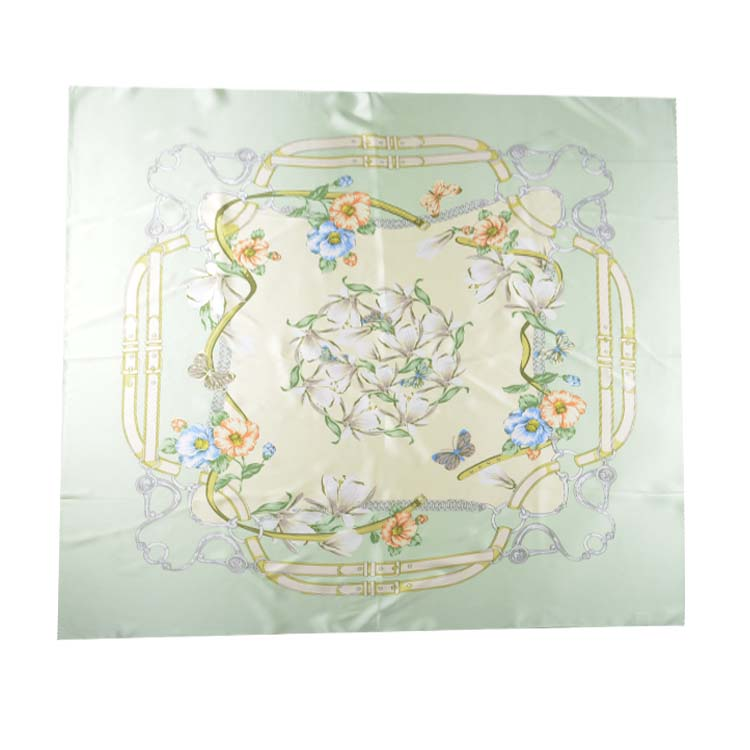 Custom design fashion digital printed square 100% Silk Scarf For Women Spring