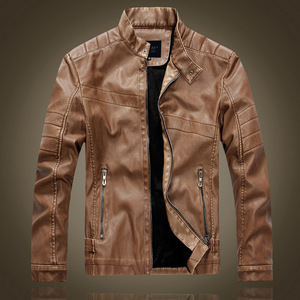 China Supplier men spring leather jacket silk bomber jackets turkey