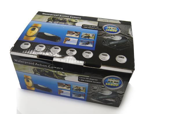 1.3 мега CMOS AT68 водонепроницаемая камера спорта, мини dvr, монитор видеонаблюдения, поддержка 32 г хранения карты памяти, автомобилей заднего системы