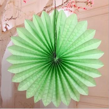 Multicolored Paper Honeycomb Tissue Paper Flower Fans For Baby