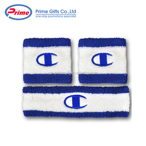 Customized Terry Cotton Sport Sweatband Wristband for Sale