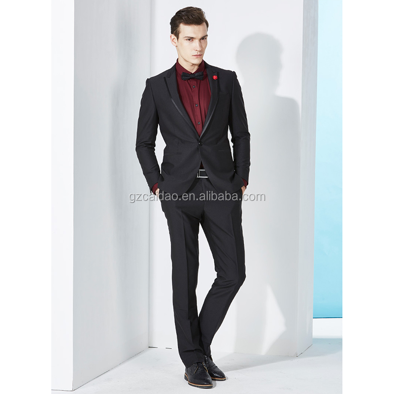 Manufacture Men's Slim Fit Black Wedding Tuxedos Styles For Groom