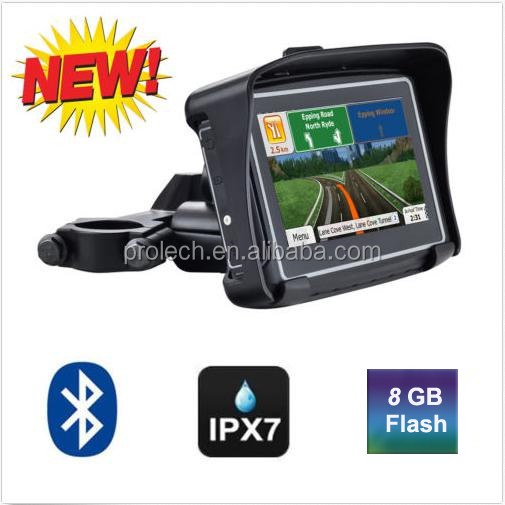 4.3 Inch 8GB 480X272 Car GPS Motorcycle GPS+ Waterproof Design + Bluetooth + 8GB Internal Memory + FM + Free Maps