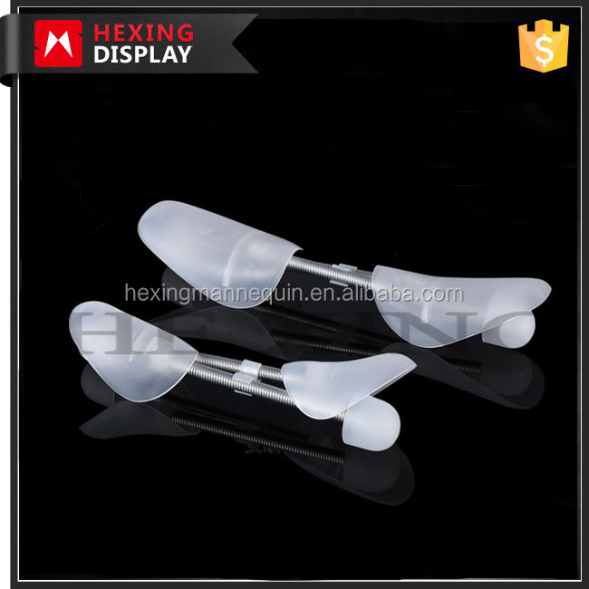 2017 Hexing hot sale plastic adjustable shoe trees with spring