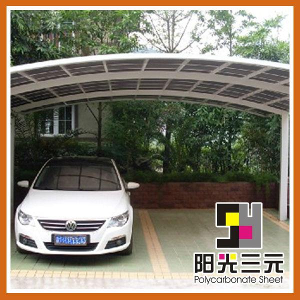Plazas de garaje cubiertas de policarbonato para cobertizo - Suelo de policarbonato ...