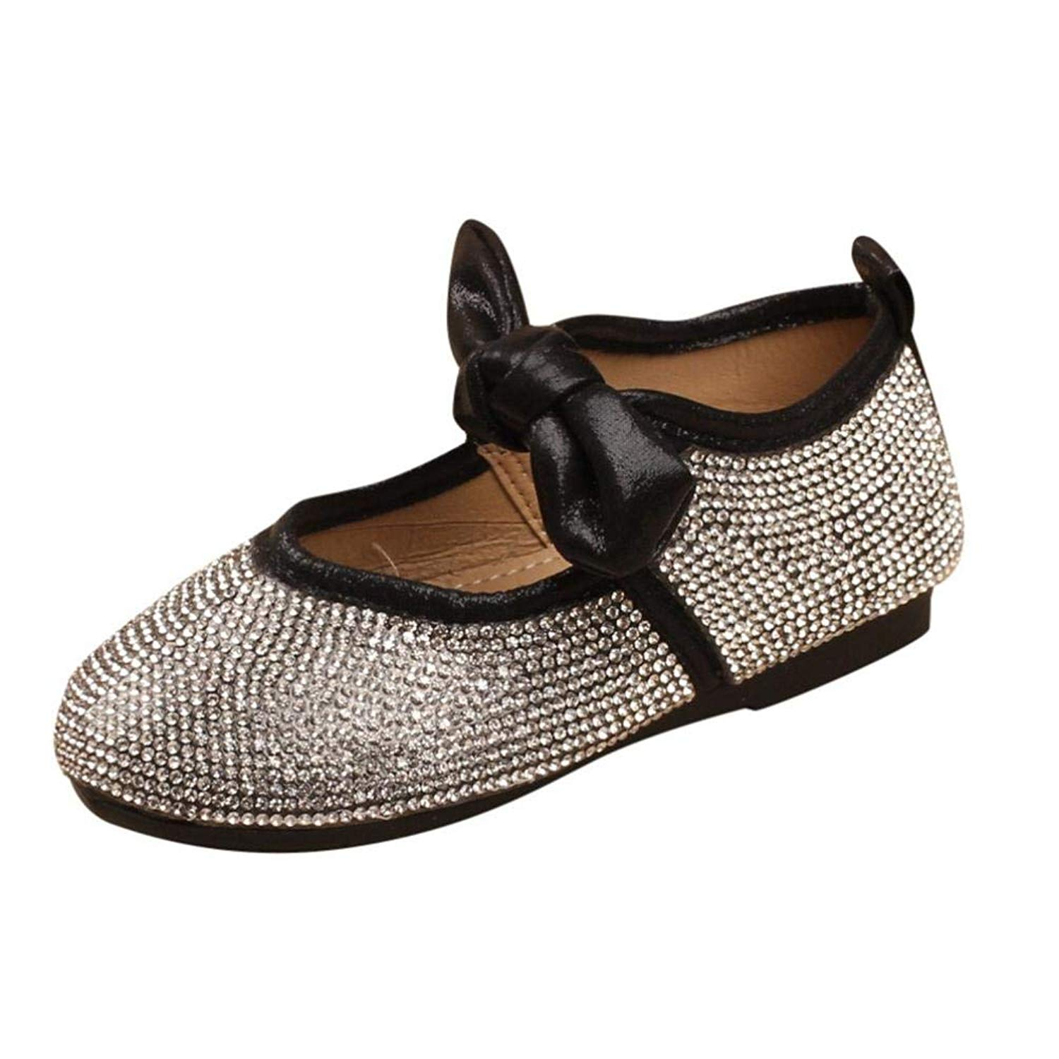9f3656caf Get Quotations · Goodtrade8 Clearance Baby Girls Shoes Crystal Princess  Bowknot Princess Casual Little Kid Formal Shoes 18 Months