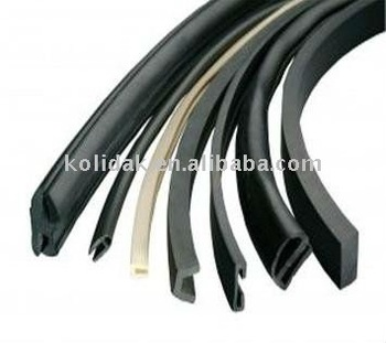 Custom Rubber Seal Strip Extrusion For Wooden Doors And