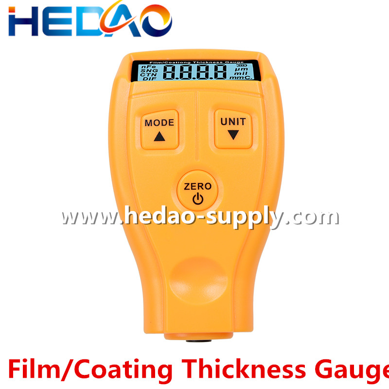 Auto Rubber Digital Paint Thickness Gauge Meter