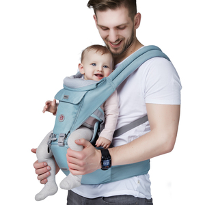Soft allo ergo breathable cotton adult baby travel system wrap carrier with seat