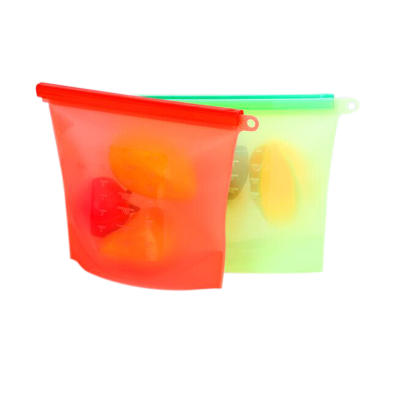 Decorative reusable silicone food storage bag food fresh-keeping bags