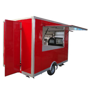 stainless steel 304 mobile food cart refrigerator with CE