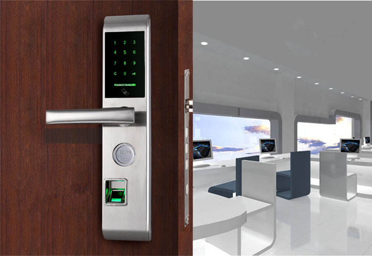 2017 High Quality Smart Card Electronic Password Keyless Digital Locks Fingerprint Door Lock from Guangdong & 2017 High Quality Smart Card Electronic Password Keyless Digital ...