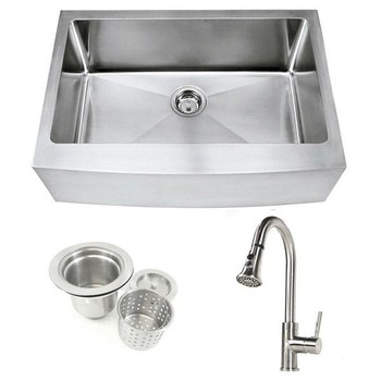 Wf 648 free standing stainless steel kitchen sink apron for High quality kitchen sinks