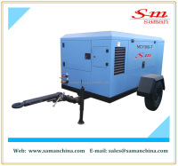 MCY300-7 portable diesel driven screw air compressor mini air compressor