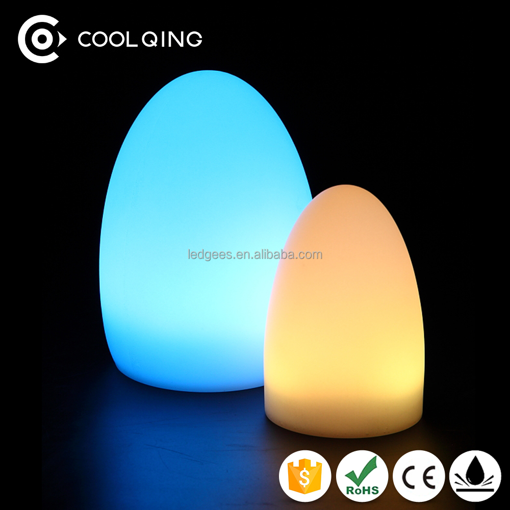 Elegant Ce Rohs Wireless Rechargeable Led Table Light Egg Shaped