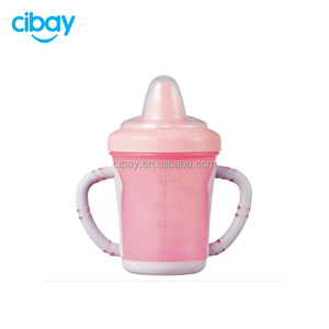 BPA free Easy to clean 180ml non-spill training baby sippy cup