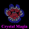 2016 cat paw iron on appliques animal paw heat transfer rhinestone motif
