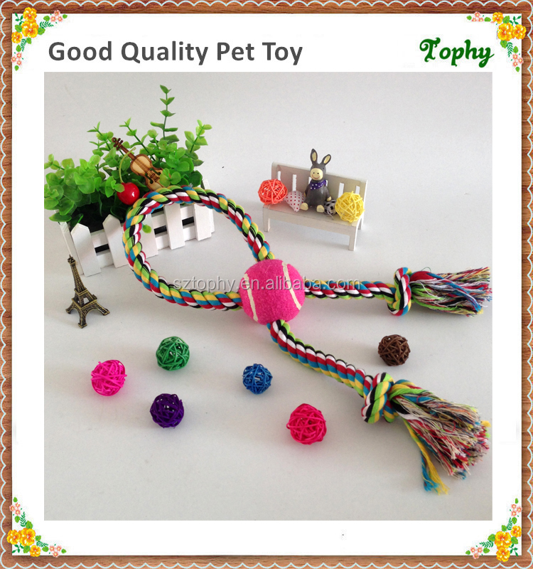 Dog Puppy Toys Ball With Rope For Exercising Fetching Training Chew and Chase