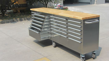 Metalen Opbergkasten Garage : Metalen garage opbergkast met laden roestvrij staal buy