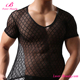 High stretch black mesh transparent hot sexy men babydoll lingerie