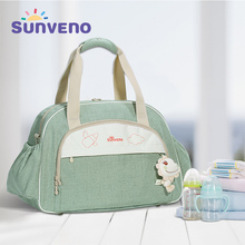 SUNVENO multifunctional baby stroller bag diaper caddy mummy fashion shoulder bag handbag travel diaper bag