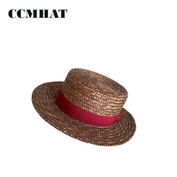 Brown Plain Dyed Natural Straw Boater Hat - Buy Boater Hat 2a978a57a17b