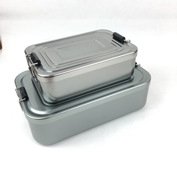 HOT SELL New products 2019 1000ml rectangle lockable leakproof aluminum lunch box metal bento box