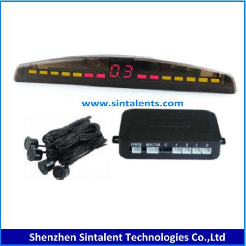 LED auto car reverse radar system 2 black eyes parking sensor