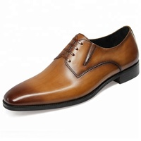 OEM official formal Oxfords nice good dress genuine leather shoes, made in turkey latest men dress shoes