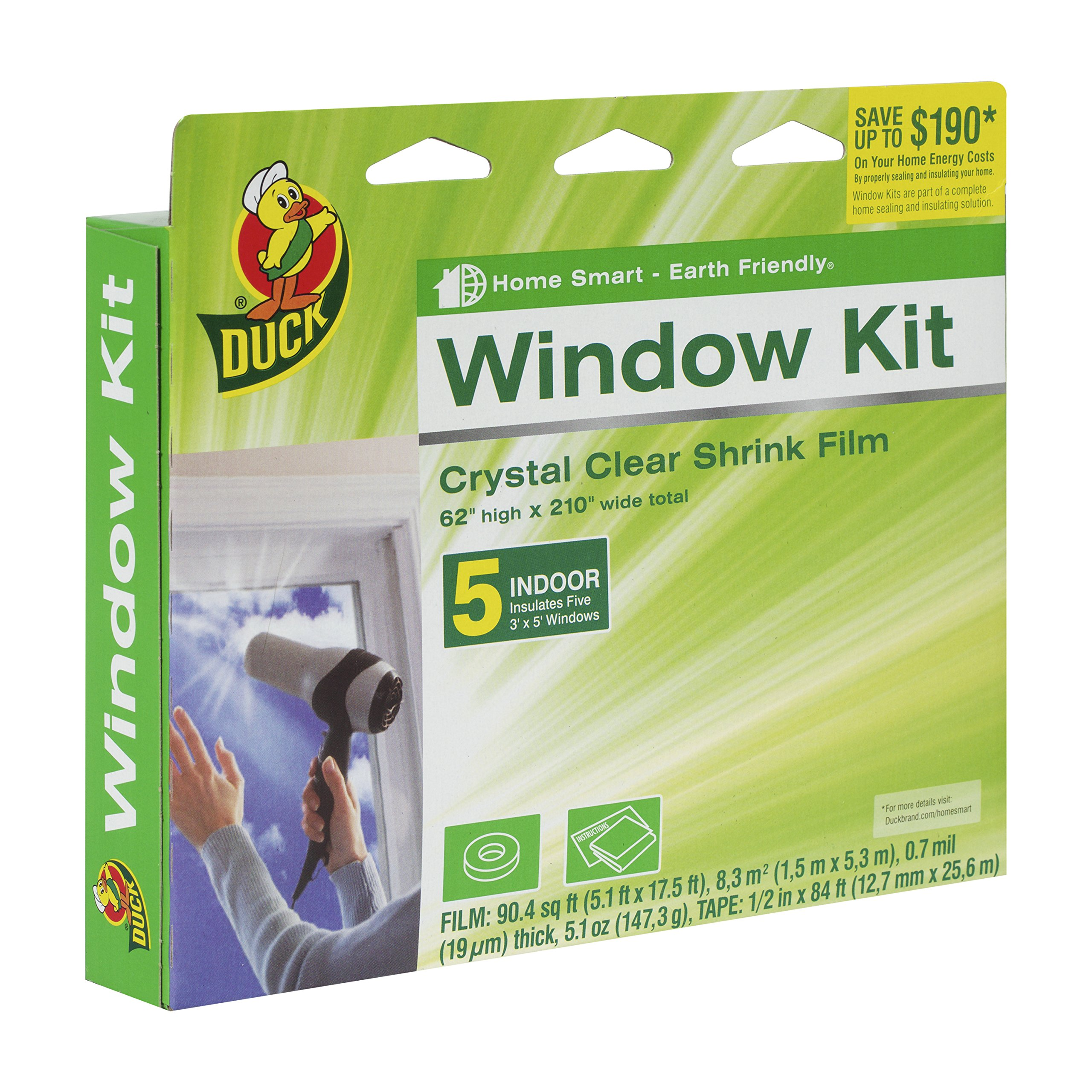 M-D Building Products 43100 Shrink and Seal Window Film with Tape
