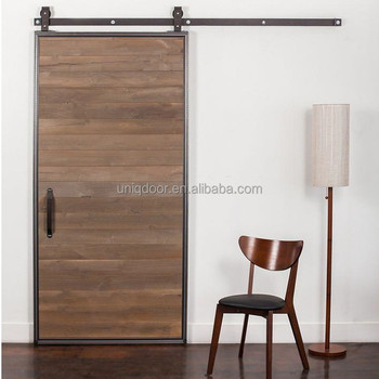 30 X 81 Uniqdoor Modern Wood Barn Doors With Top Mount Black Sliding Door Hardware Kit View Wooded Barn Door Uniqdoor Product Details From Hebei Senming Wood Industry Co Ltd On Alibaba Com