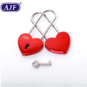 AJF Long Bow Red Heart shaped Love Padlock - Top quality (Lovelock, Gift, Liebesschloss, love lock, wishlock, cadenas d'amour
