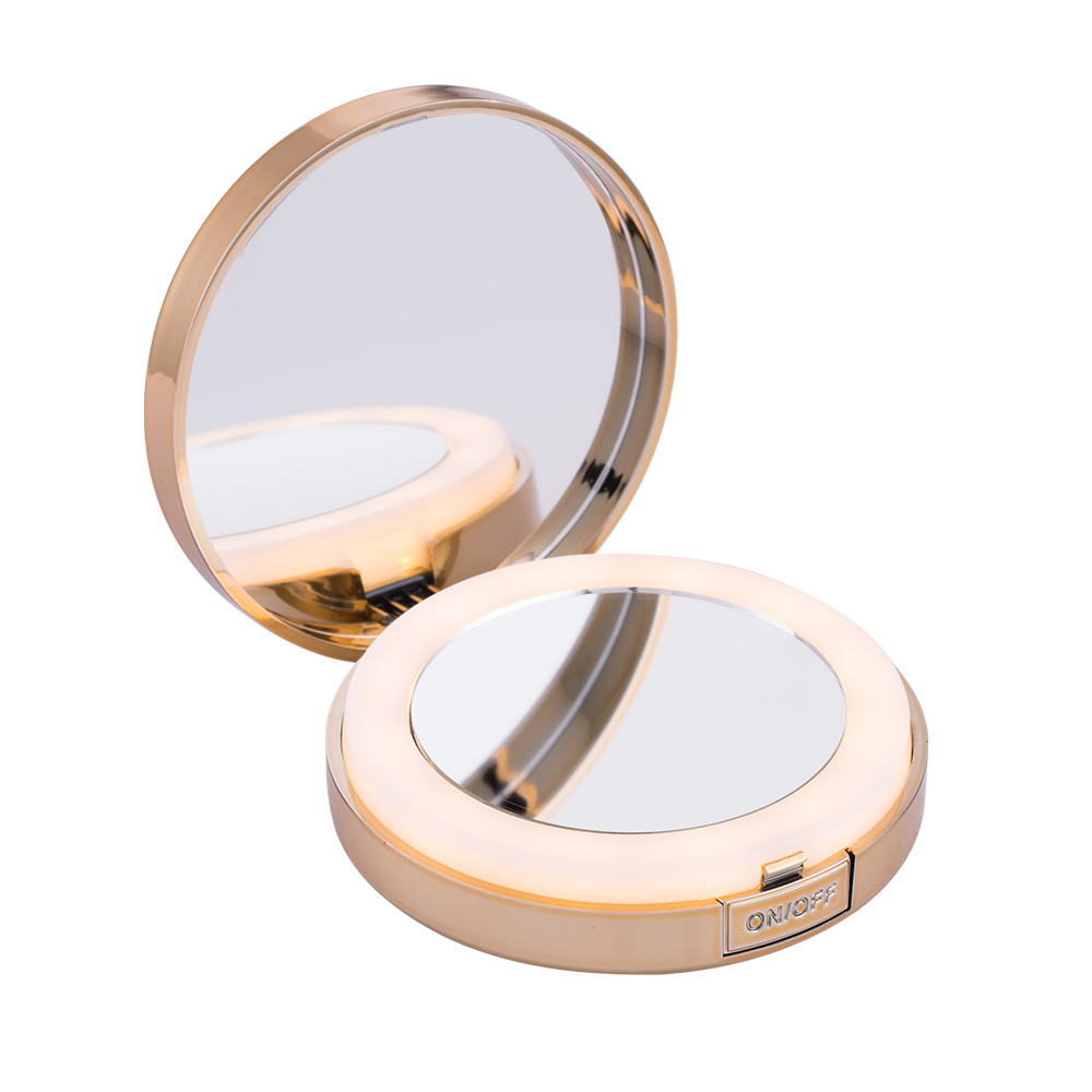 Compact led 4x magnification makeup led vanity mirror фото