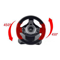 2017 new design brand new 900 degree vibration racing car game steering wheel