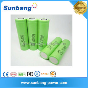 Authentic global battery korea 18650 polymer battery with PCB