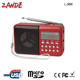 portable fm radio mini digital speaker L-988 support usb flash drive and sd card high quality