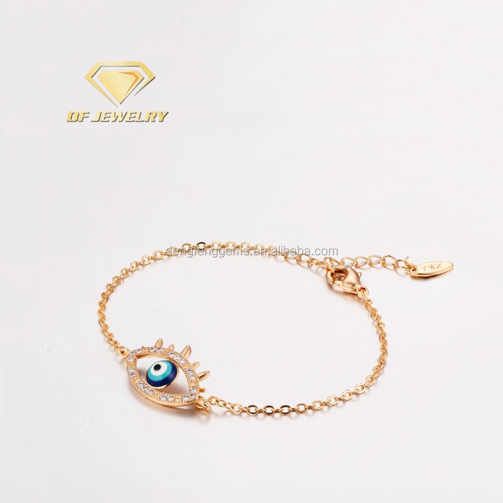 Eyes Pattern Smart Silver Charm Bracelet CB1707016