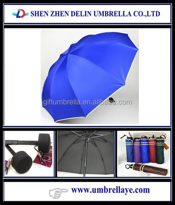 Cute three fold cheap custom print umbrellars