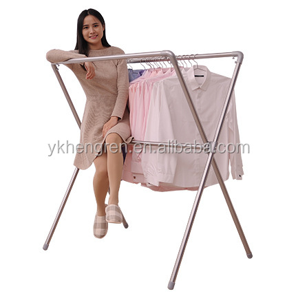 Factory direct sale Telescopic adjusting clothes rack X-type dry Rack
