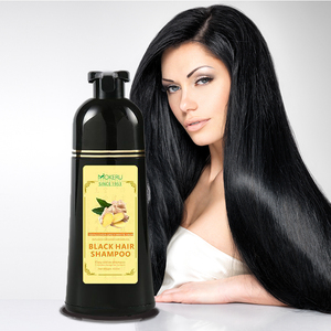 OEM Private Label Natural Black Color 400ml ginger black Hair Dye Shampoo for adults