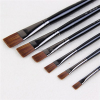 High quality Black Wooden handle's Nylon Paint brush for acrylic and oil colour painting