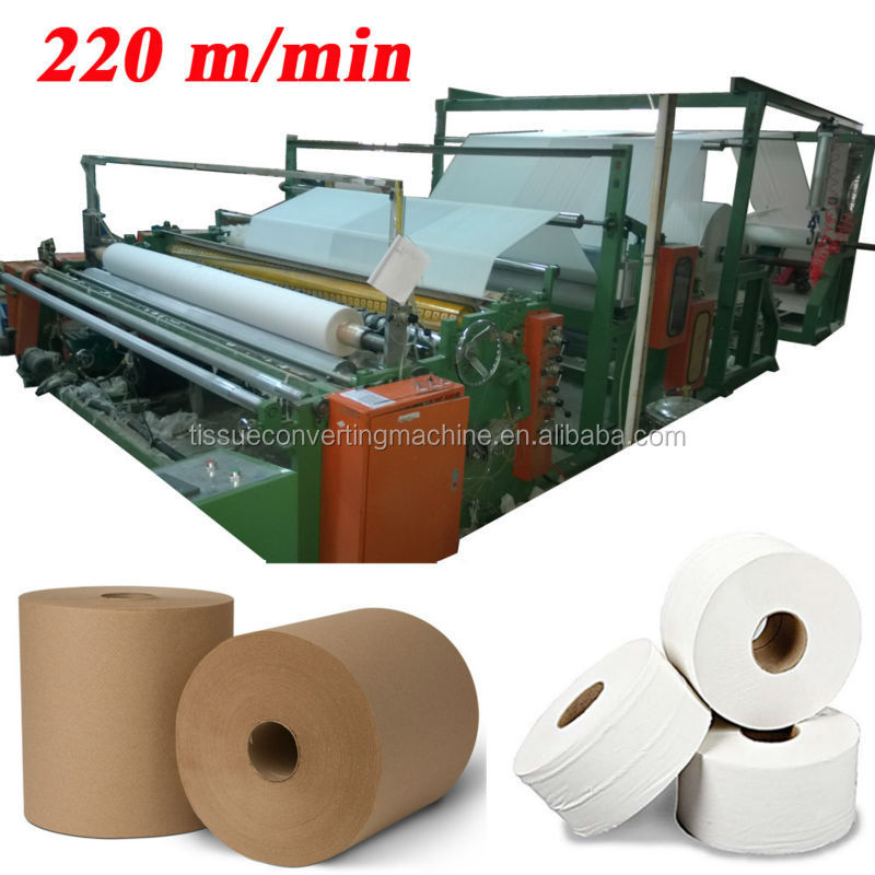 Italy German Design 2900mm Embossing Printing Laminating High Speed Automatic E-Tork Tissue Paper Roll Machine