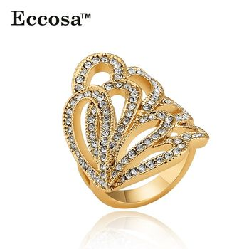 Eccosa Latest Gold Ring Designs Big Ring Friendship Band For Girls