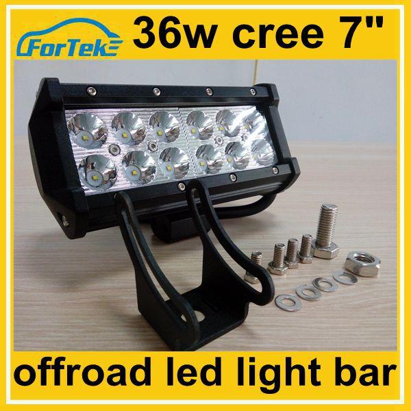cheap aluminum housing 7.5 inch 36w cree led light bar for cars in stock