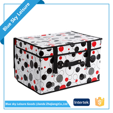 Polyester Non Woven Embossing Fabric Multipurpose Foldable Kids Art Storage Box