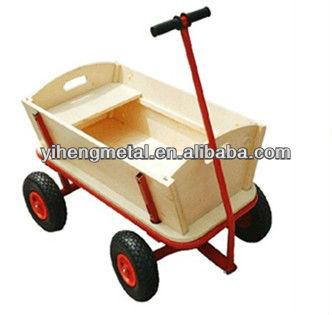 All Terrain Wooden Garden Trolley Wagon Cart Hand Truck Tc4203b   Buy  Garden Trolley Wagon,Kids Wagon,Kids Wooden Wagon Product On Alibaba.com