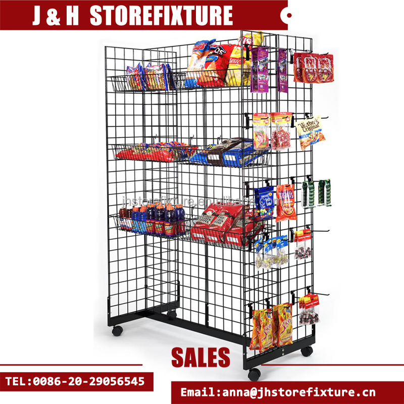 "Chrome Grid Gondola Unit 24/""W x 48/""L x 66H"