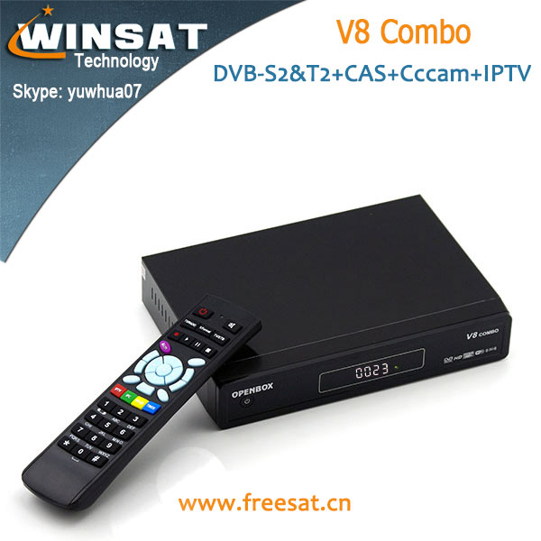 New Version V8 Combo satellite receiver IPTV Set top box in stock with USB wifi