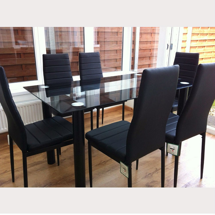 Free S&le Cheap 6 Chairs Dining Table Set Modern Classic 8 Seater Luxury Glass Dining Table & Free Sample Cheap 6 Chairs Dining Table Set Modern Classic 8 Seater ...